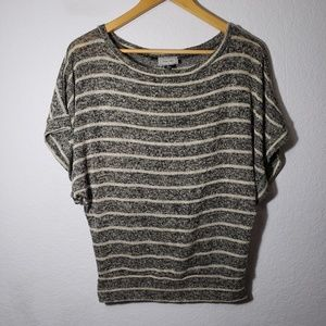 About a girl short sleeve slouchy knit top